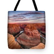 A Horseshoe Bend Morning  Tote Bag