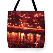 A Hot Night On Biscayne Bay Tote Bag