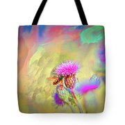A Hoverfly On Abstract #h3 Tote Bag