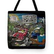 A I P Monster Movie Marathon At The Twilight Drive - In  La Porte Indiana Tote Bag