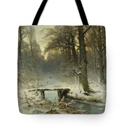A January Evening In The Woods Tote Bag