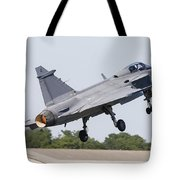 A Jas-39 Gripen Of The Swedish Air Tote Bag