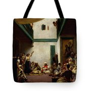 A Jewish Wedding In Morocco Tote Bag by Ferdinand Victor Eugene Delacroix