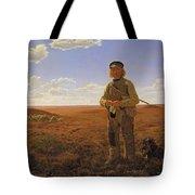 A Jutland Sheperd On The Moors Tote Bag