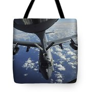 A Kc-135 Stratotanker Aircraft Refuels Tote Bag