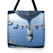A Kc-135 Stratotanker Refuels A B-52 Tote Bag by Stocktrek Images