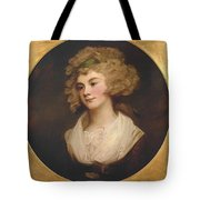 A Lady In A Brown Dress Tote Bag