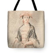 A Lady With A Fan Tote Bag