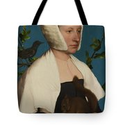A Lady With A Squirrel And A Starling Anne Lovell Tote Bag