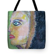 A Lady's Profile In The Navy Hood Tote Bag