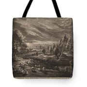 A Landscape With A Village Tote Bag