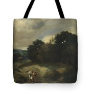 A Landscape With Tobias And The Angel Tote Bag