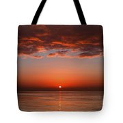 A Layer Of Clouds Is Lit By The Rising Tote Bag