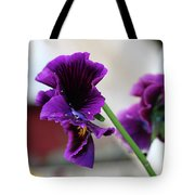 A Leaning Flower  Tote Bag