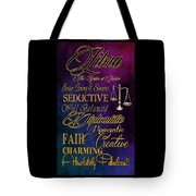A Libra Is Tote Bag by Mamie Thornbrue