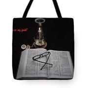 A Light Unto My Path Tote Bag