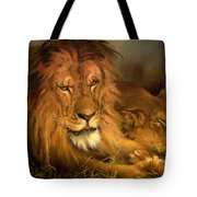 A Lion And A Lioness Tote Bag