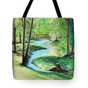 A Little Brook With A Bridge Tote Bag
