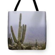 A Little Desert Fog  Tote Bag