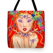 A Little Dragonfly Spell Tote Bag