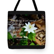 A Little Flower Tote Bag