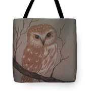 A Little Owl Tote Bag by Ginny Youngblood