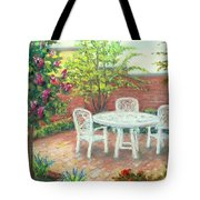 A Little Spring Patio  Tote Bag