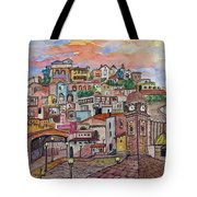 A Little Town In France Tote Bag