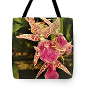 A Living Orchid Looks Like Animal Print Doesnt It So Beautiful Tote Bag