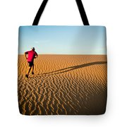 A Long Desert Run Tote Bag