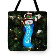 A Long Snow Ornament- Horizontal Tote Bag