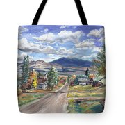 A Look Down The Street Tote Bag