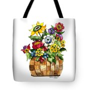 A Lovely Basket Of Flowers Tote Bag