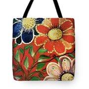 A  Trio Of Flowers Tote Bag