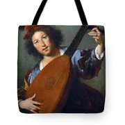 A Lute-player Tote Bag