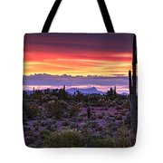 A Magical Desert Morning  Tote Bag