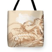 A Maiden Embraced By A Knight In Armor Tote Bag