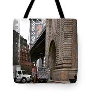 A Man And A Bridge Tote Bag