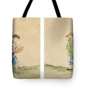 A Man And A Woman Tote Bag
