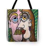 A Man And A Woman With Brown Eyes... - Un Homme Et Une Femme Aux Yeux Bruns... Tote Bag