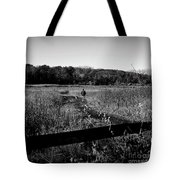 A Man And His Dog - Square Tote Bag