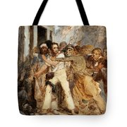 A Man Being Arrested Tote Bag