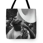 A Man Blows His Horn Tote Bag