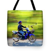 Heading To Work In Rural Thailand. Tote Bag