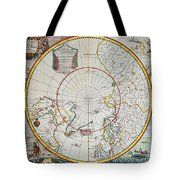 A Map Of The North Pole Tote Bag by John Seller