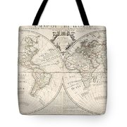 A Map Of The World Tote Bag by John Senex
