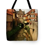 A Medieval Village In Germany Tote Bag