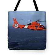 A Mh-65c Dolphin Helicopter Tote Bag