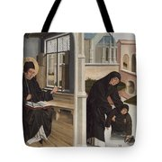 A Miracle Of Saint Benedict Tote Bag