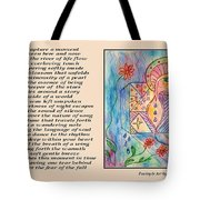 A Moment - Poetry In Art Tote Bag
